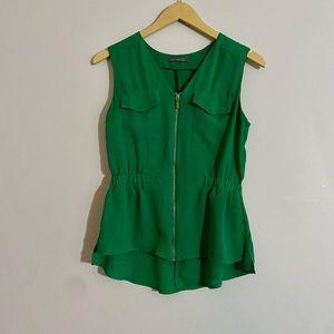 Green blouse sleeveless